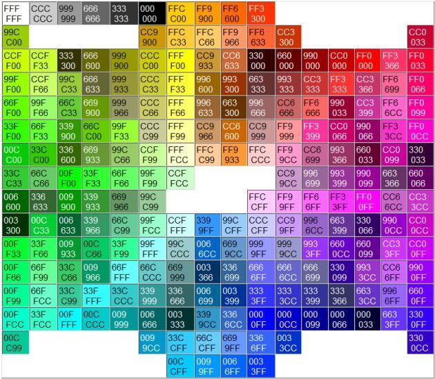 216 colores seguros