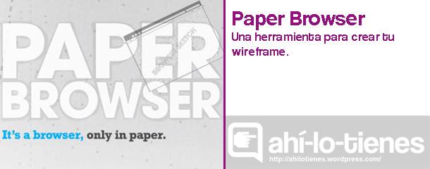 Paperbrowser:papel para esbozos